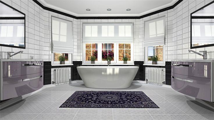 Exkluzivní koupelna pro německého zákazníka z Frankfurtu, který si potrpí na velkou prostornou koupelnu.