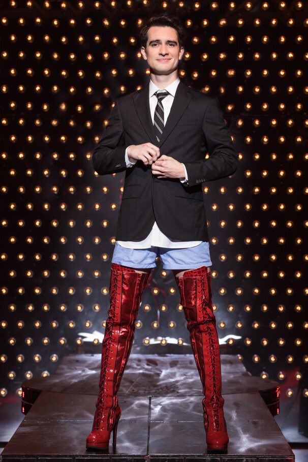 The Beebs on Broadway Kinky Boots. So proud of him