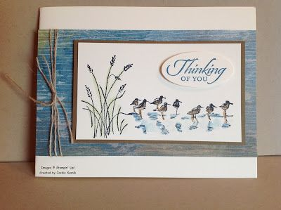 """♥ this card by Jackie Susnik from JackOtterStamp, featuring the Stampin' Up! stamp set """"Wetlands""""."""