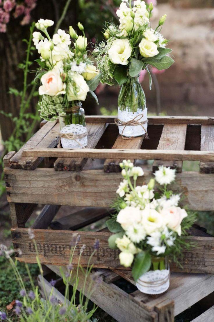 die besten 25+ rustikale tischdekoration ideen auf pinterest ... - Gartenparty Deko Rustikal
