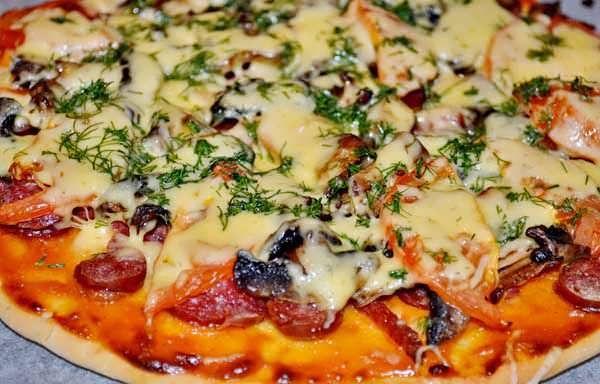 Пицца рецепт с морепродуктами дома