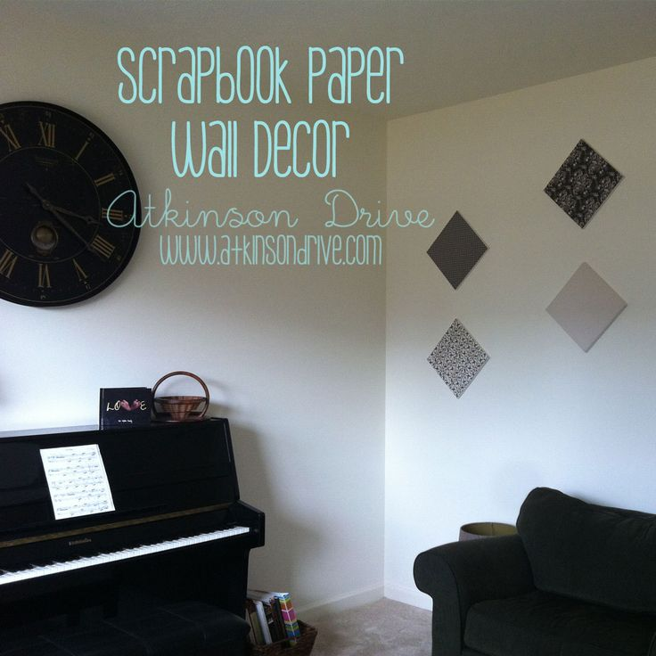 Wall Decor With Scrapbook Paper : Images about ra wall decs on chalkboard