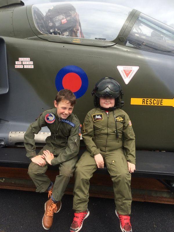 Ice Man and Maverick!  Aviation Camp Shannon