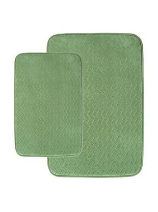 70% OFF Memory Foam Bath Mat Set, Sage