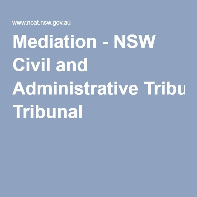 Mediation - NSW Civil and Administrative Tribunal
