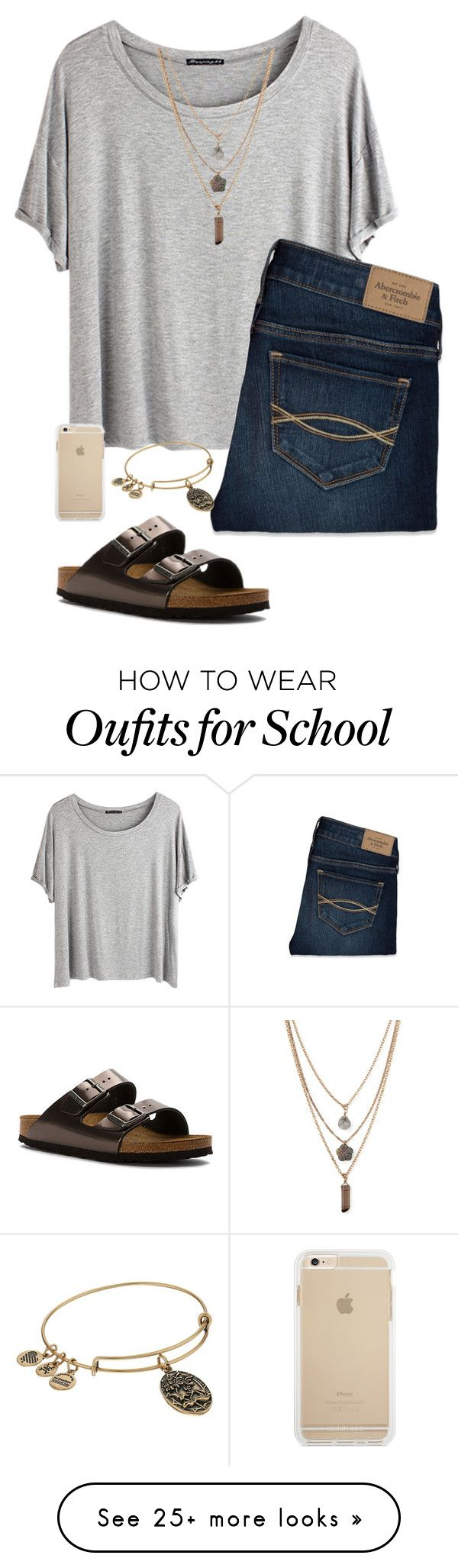 """I don't want school"" by eadurbala08 on Polyvore featuring Chicnova Fashion, Abercrombie & Fitch, Birkenstock, Forever 21 and Alex and Ani"