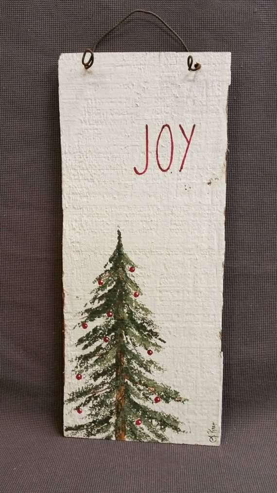 Hand painted Christmas Decorations by TheWhiteBirchStudio on Etsy