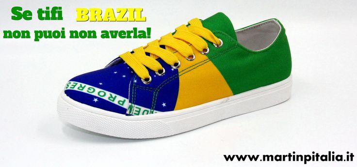 Sneakers bandiera Brasile Olimpiadi 2016!