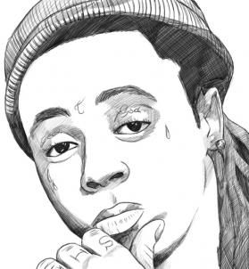 lil wayne coloring pages to print   how to draw lil wayne step 8   Drawings/Art   Pinterest ...