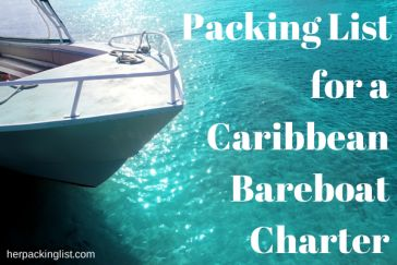 Packing list for a Caribbean Bareboat Charter