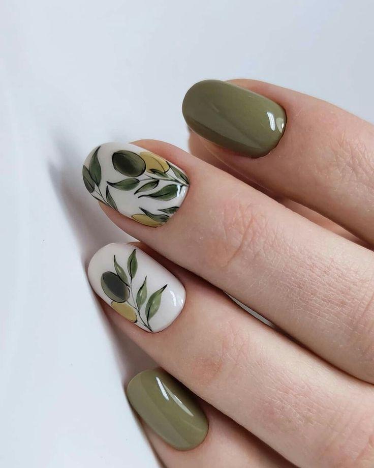 Pin By Igemstonejewelry On Nail Ideas Green Nail Art Green Nails Fall Nail Art