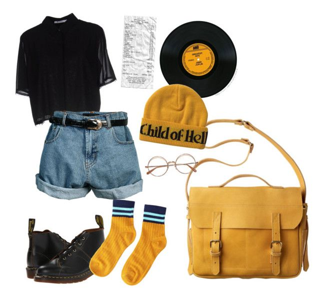 """stylish vintage"" by julietteisinthe80s on Polyvore featuring Toast, Dr. Martens, T By Alexander Wang, Retrò and vintage"