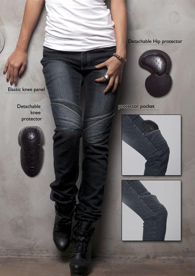 Ladies Women motorbike motorcycle jeans Pant STRETCH Trouser CE Knee /& Hip Guard