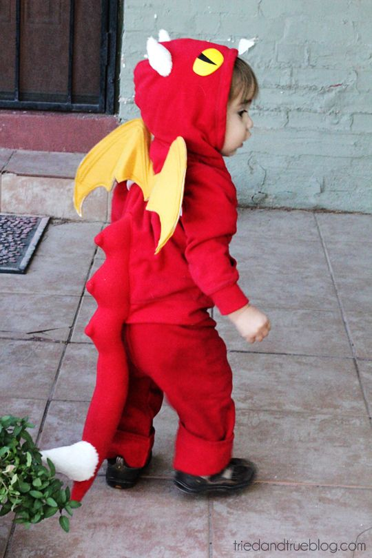 how to make a dragon costume from a sweatsuit - Dragon Toddler Halloween Costume