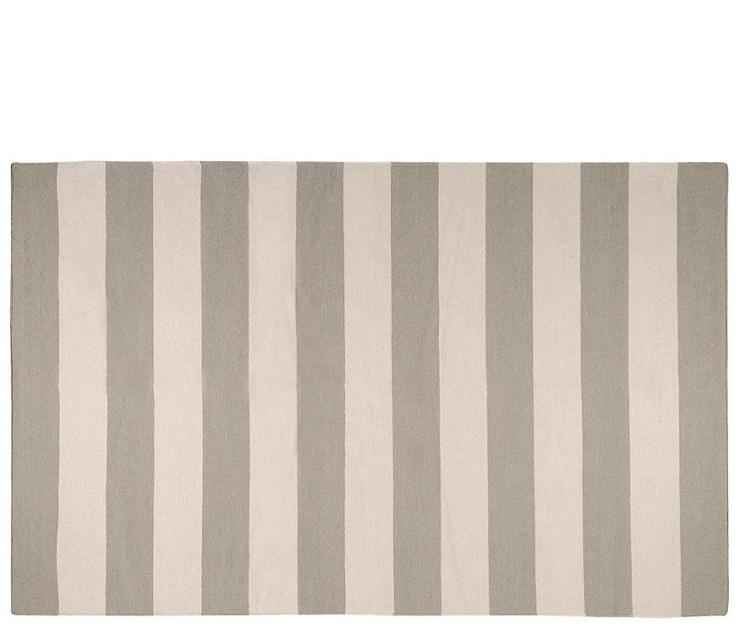 Flat Weave Taupe Stripe Rug | Boston Interiors. Would Love To Give The  Living Room