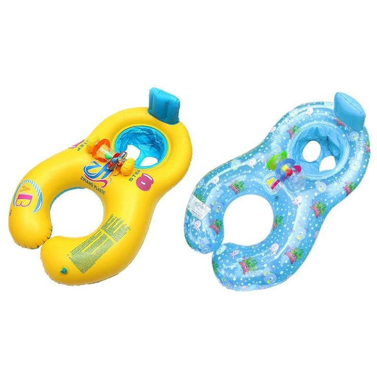 New Seat Circle Double Baby Swimming Ring Inflatable Floats Bathtub Pool Toy Cartoon Swim Trainer environmentally-friendly PVC