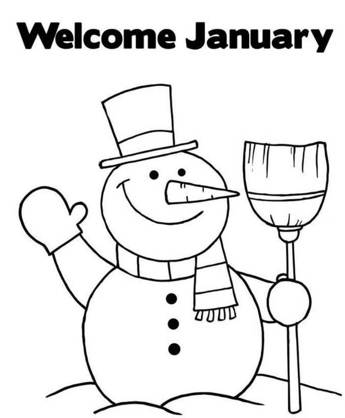 January Coloring Pages Printable Free Coloring Sheets Snowman Coloring Pages Preschool Coloring Pages Pirate Coloring Pages