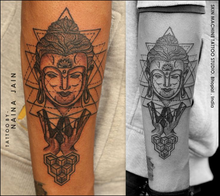 Geometric Buddha Tattoo by - Naina Completely Custom ...