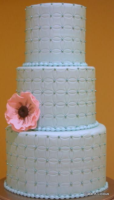 wedding cake: Quilts Patterns, Weddings Cakes, Blue Cakes, Cakes Design, Decoration Cakes, Blue Weddings, Cakes A Lici, Cakes Weddings, Cakes Idea