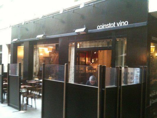 L'adresse du lundi :-) Coinstot Vino 26 Passage des Panoramas  75002 Paris