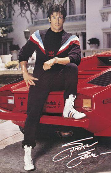 Sly in Retro Adidas Gear