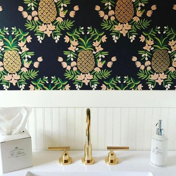 Pineapple (Ebony). Bathroom WallpaperModern WallpaperDesigner ...