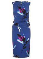 Womens **Lily & Franc Multi Coloured Floral Print Bodycon Dress- Fl Multi