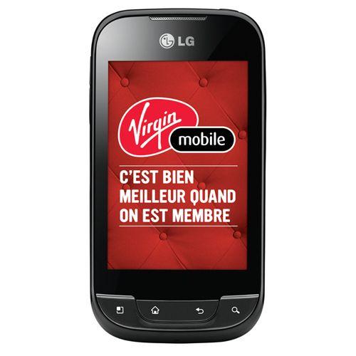 Téléphone intelligent prépayé Optimus Net de LG offert par Virgin Mobile - Noir  #BBYSciencessociales