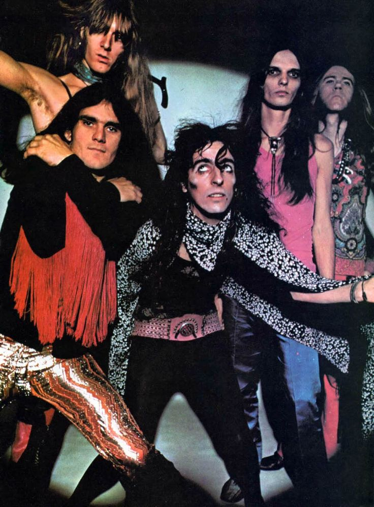 Alice Cooper, Circus Magazine, my Uncle Buddy got me into listening to them....  had the post of him in gold hanging in his room at my MeeMaws July 31 1971.
