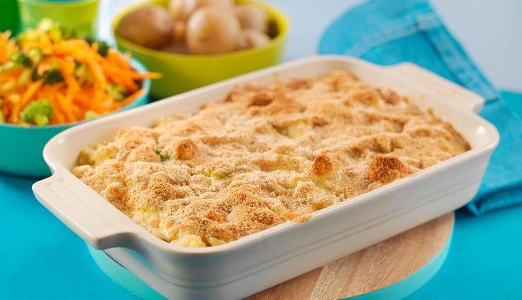 Denne oppskriften på fiskegrateng med makaroni kan fort bli en suksess blant barna. Server gjerne med råkost og kokte poteter.