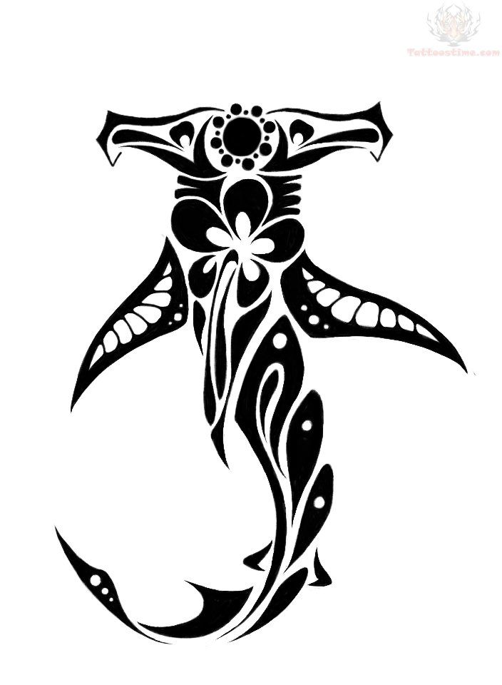 hawaiian tribal designs | ... shark polynesian design easy hawaiian tribal hawaiian hammerhead shark