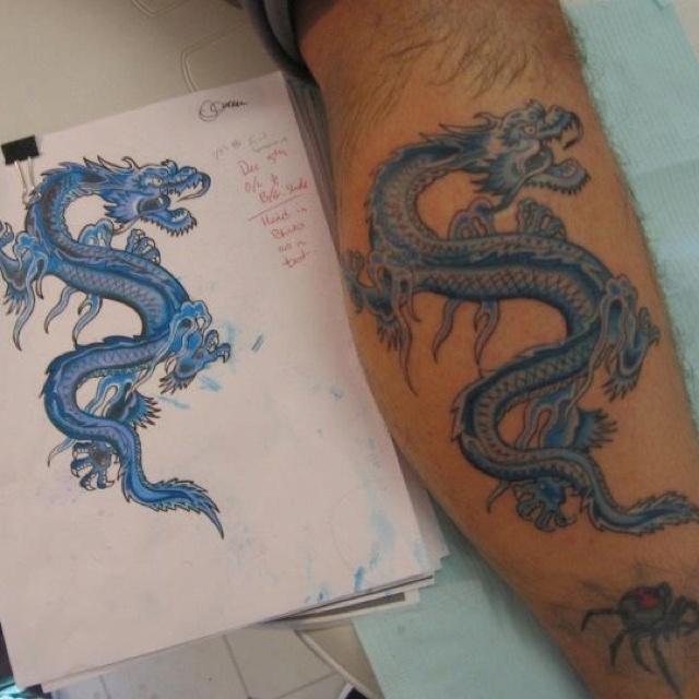 Blue dragon tattoo by Scott Hill ~Closter, NJ | Tattoos ...