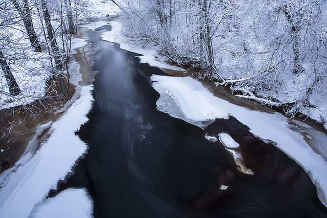 #winter #river #ice #juuka #finland