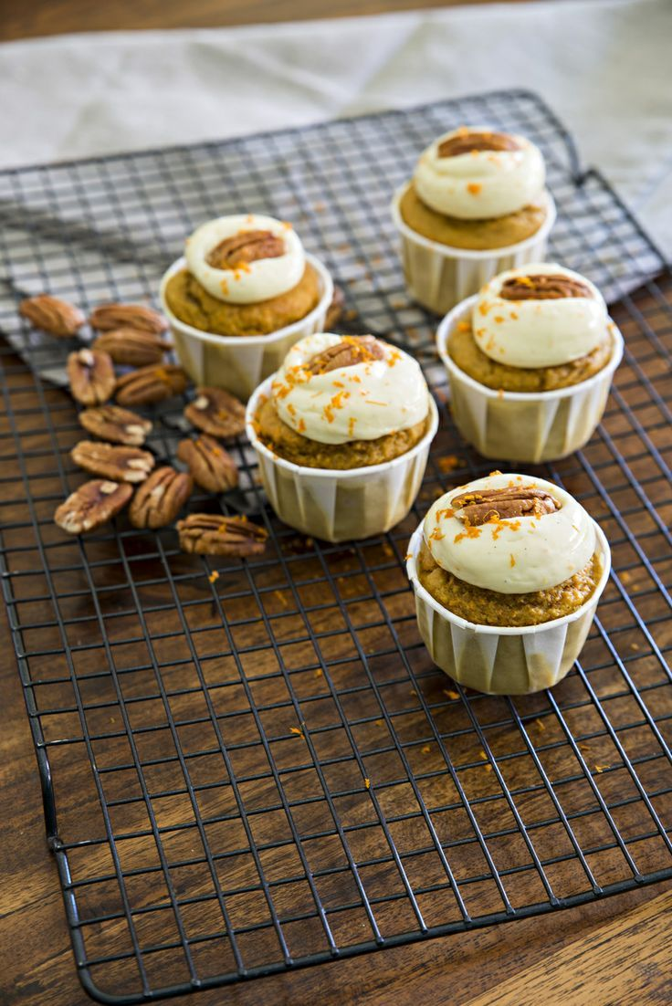 Carrot, Orange and Pecan Muffins