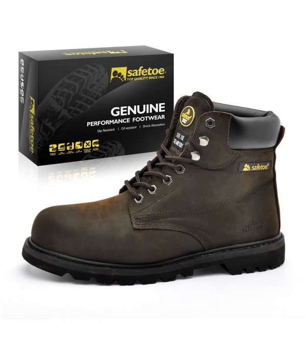 Steel toe safety shoes, Work boots men
