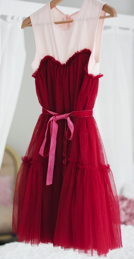 frilly tulle dress mode glamour modestil huebsche kleider
