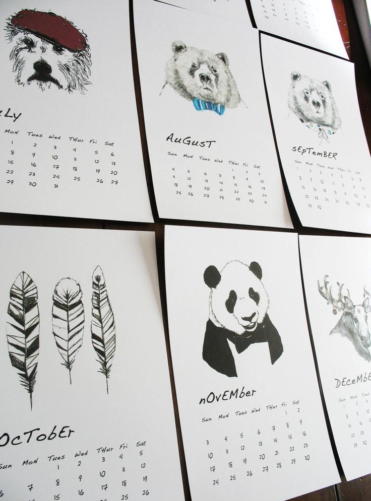 Diy Calendar Nim C : Corelladesign neat calendars pinterest illustrationer