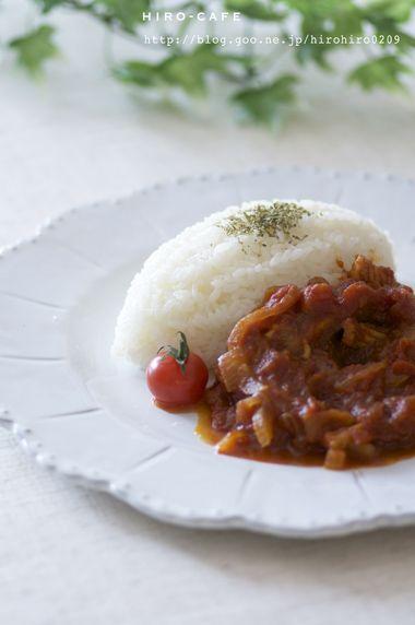 カレー風味のイカのトマト煮込み☆ | 美肌レシピ