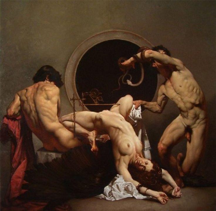 Roberto Ferri pintura barroca simbolista controvertida
