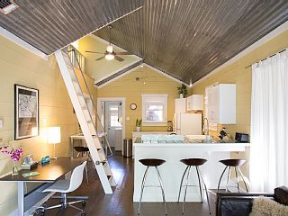 Home Away: Walk to it All! Adorably Hip Bungalow. Ideal SoCo Location! Ben & Nadja: This house is located in the very cool SoCo neighborhood which has lots of restaurants, food trucks and shopping.  Sleeps up to 5