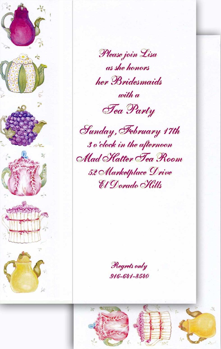 43 best Tea Party Invitations images on Pinterest | Afternoon tea ...