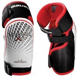 Skate Out Loud Bauer Vapor X20 Elbow Pad size: Small by Skate Out Loud. $27.00. The Bauer Vapor X20 hockey elbow pads are the most ,affordable elbow guards in the Bauer Vapor line. Bauer has used a two-piece ,design,with a molded plastic cap for a good level of protection. The X20 elbow ,pads are great elbow pads for new players or recreational use. ,, ,,Protection: ,,Molded poly cap design ,,Mid-density foam bicep and forearm guards ,,Dual-density foam inner elbo...