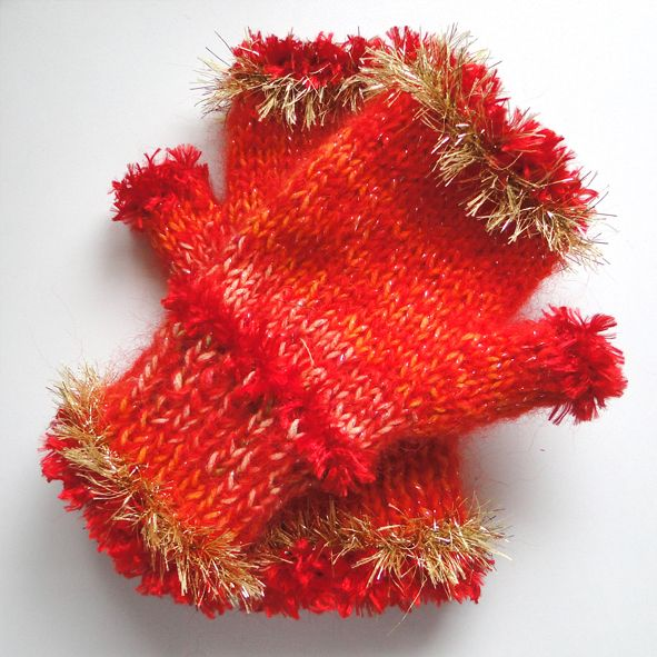 Warm Chunky Mittens or Handwarmers - Fireworks, Unique Christmas Gifts, Quality Greeting Cards, Luxury Christmas Decorations,Trendy Hand Knitted Accessories, Luxury British Made
