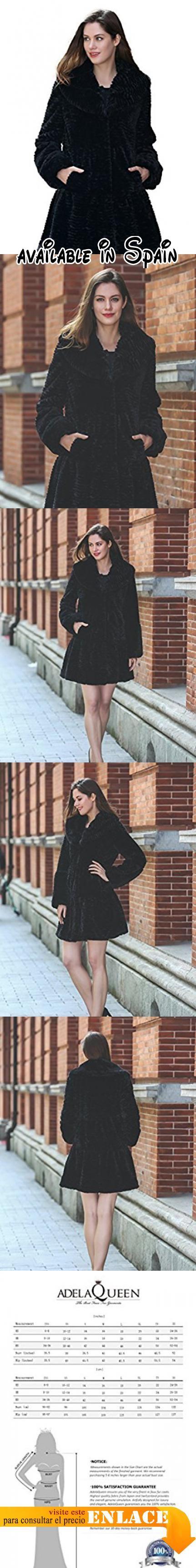 B01J6YR8JG : Adelaqueen Abrigo de Piel Sintética de Cordero Persa con Solapa Ancha Chaqueta Invernal con Estilo de Moda Para Mujer Negro Tamaño Chaqueta Piel Sintética Mujer Faux Fur Coat Abrigos Piel-L. Este abrigo está hecho de un material que es uno de los más suaves. Si cierres los ojos no podrás creer que es una chaqueta.. Es muy fácil de limpiar. Se recomienda la limpieza en seco pero también se puede lavar a mano o en máquina usando el suavizante textil.