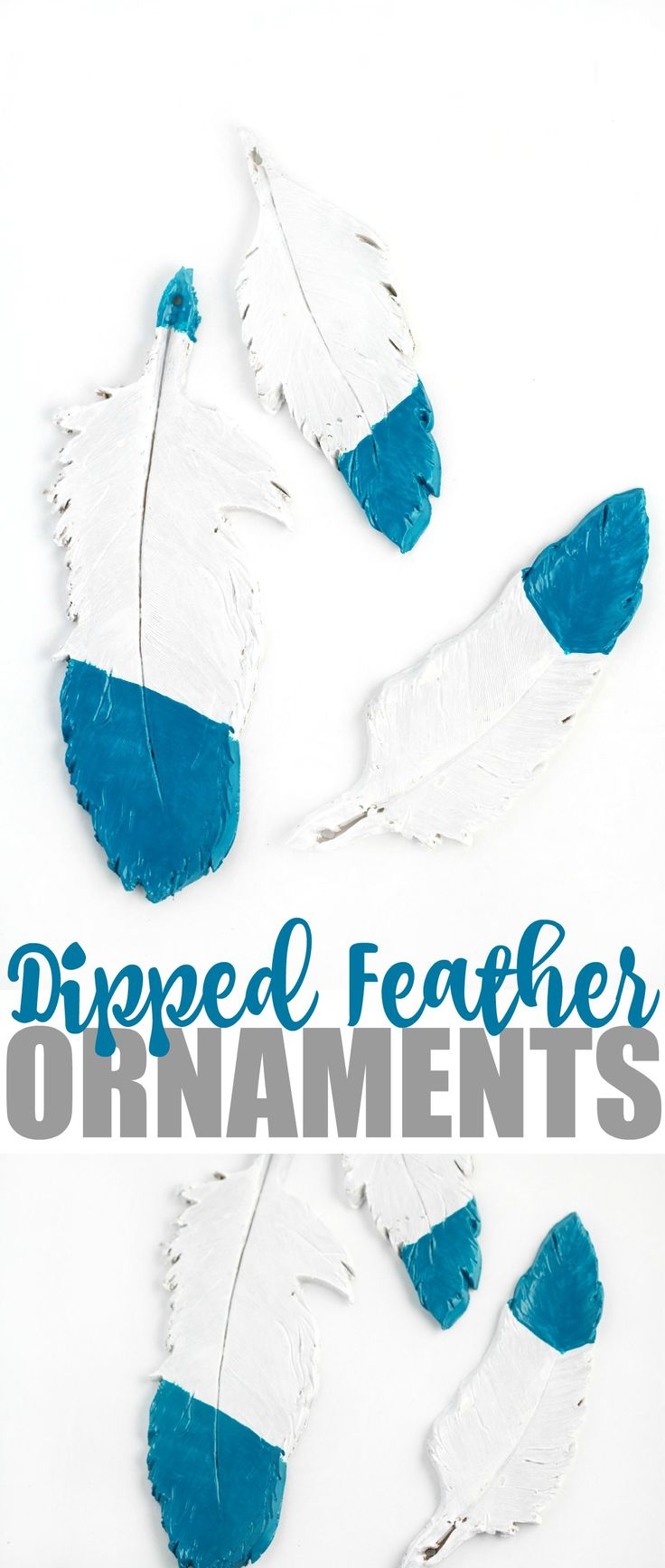Dipped Feather Ornaments Christmas Stuffdiy Christmaschristmas Ornamentsmerry  Christmasoven Bakedhomemade