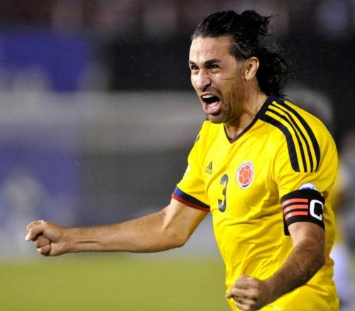Mario Yepes Colombia Captain World Cup 2014