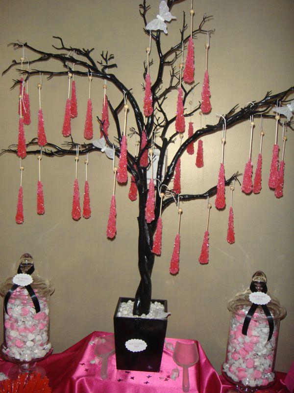 Rock Candy Tree Party Ideas Candy Themed Party Candy