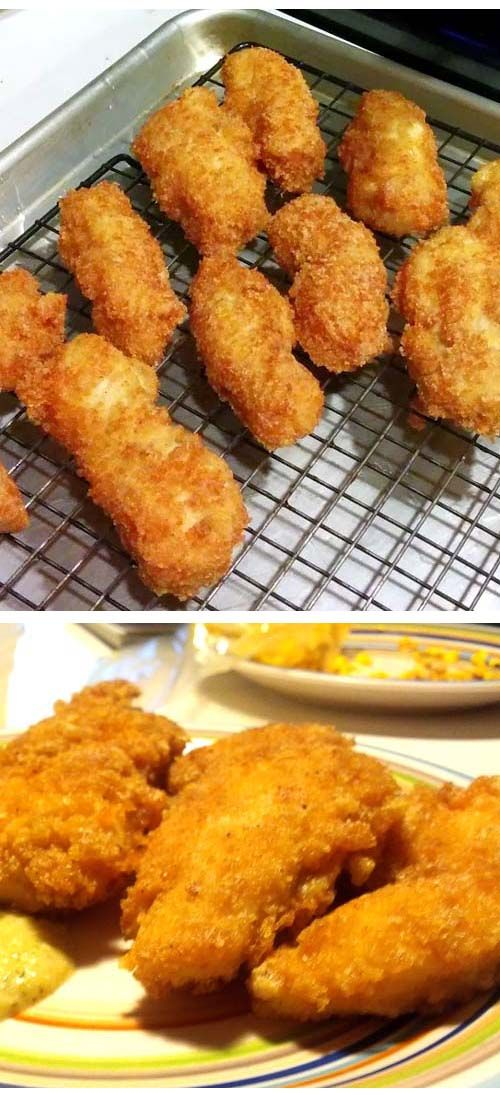 Low Carb Chicken Tenders Recipe w/ Parmesan Pork Rind Breading