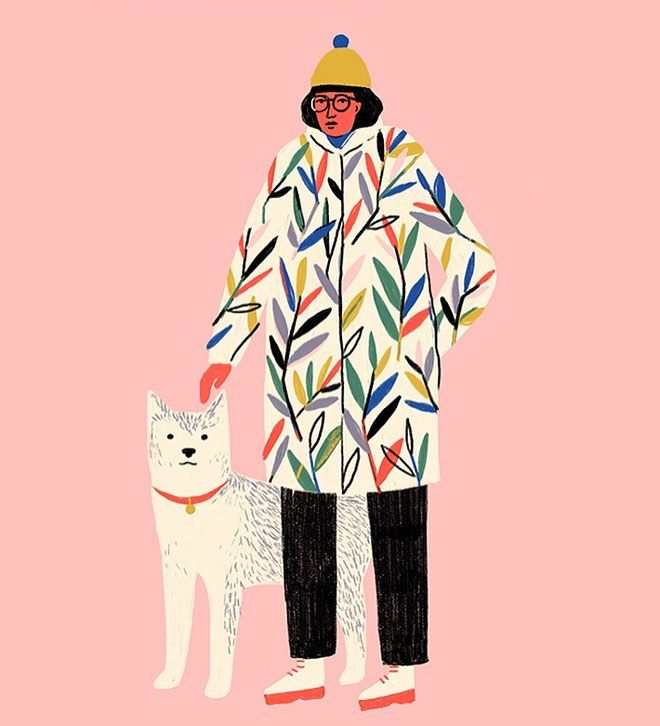 "7,198 Likes, 20 Comments - Sara Barnes (@brwnpaperbag) on Instagram: ""Well, I've got jacket, beanie, and doggo envy—the trifecta. #Illustration by @abbey_lossing . . . .…"""