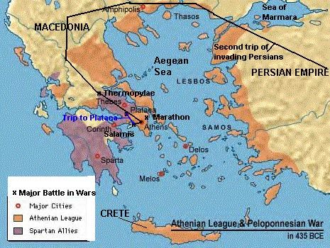 The Battle of Plataea The last battle in which Persia took over many Greek places. When Persia offered Athens a treaty to stop the Persian invasion, Athens declined it and instead, attacked. Out of the 300,000 Persian soldiers who entered this battle, only 43,000 survived. Greece only took casualties of about 1,000.